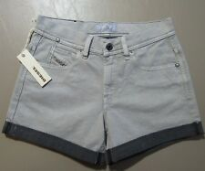 Diesel ISI Shorts Women's Size 25 Gray Denim NEW $178 NWT Distressed Jorts