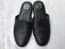 L.B. Evans 1804 Black Leather Mens Slippers Size 9.5.