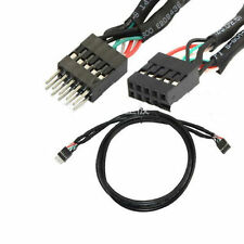 3Ft 10 Pin Male to Socket USB Header Internal Motherboard Extension Cable