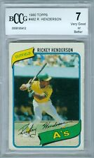 RICKEY HENDERSON 1980 TOPPS RC ROOKIE #482 BCCG 7