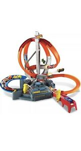 Hot Wheels Spin Storm Track Big Set Ages 4+ New Toy Play Boys Girls Free Ship