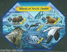 SOLOMON ISLANDS 2014 WORLD OF ARCTIC FAUNA SHEET  MINT  NH