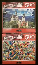 New 500 piece jigsaw puzzle - Puzzlebug (Lot of 2) Candy Castle