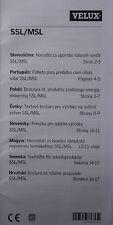 Bedienungsanleitung 8-sprach.: Rollladen und Markise VELUX INTEGRA Solar SSL/MSL
