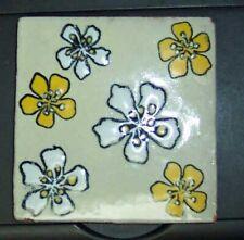Vintage Red Clay Raised Flower Tile