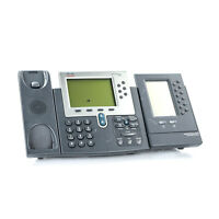 Cisco 7962G Unified VoIP IP Phone Office Business w/ Expansion Module NO Handset