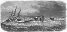 NORTH CAROLINA. Federal Monadnock, Cape Hatteras, antique print, 1865