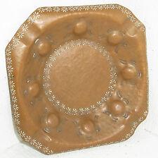 kleine verzierte Kupfer-Schale / -Ascher, ca:16,5 x 16,5cm, 239 gr