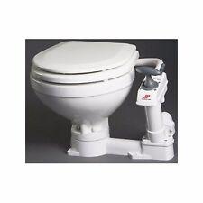 Johnson Pump AquaT Manual Compact Toilet ,Porcelain 80-47229-01 Marine MD