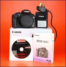 Canon EOS 500D DSLR Cuerpo de Cámara + Canon LP-E5 Batería y Cargador - 6,761 disparos