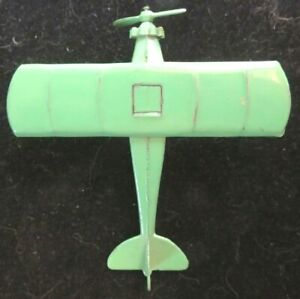 TootsieToy #4660 Green Aero-Dawn Plane Early Wheel Type Nice Shape Mfg 1928
