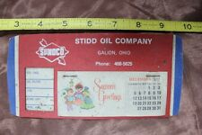 VINTAGE 1978 SUNOCO ADVERTISING CALENDAR: STIDD OIL GALION OHIO