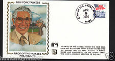 Phil Rizzuto Usps 1994 Z Silk Cachet Envelope Pride of Yankees