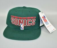Seattle Sonics Supersonics Vintage Sports Specialties Snapback Cap Hat - NWT