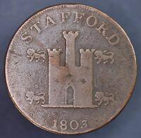 1803 Trade Conder Token, William Horton Stafford Penny 1d Castle coin **[14320]