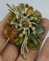 a Large Vintage Brooch by Exquisite - Rhinestone & glass design