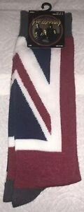 Def Leppard Crew Socks 1 Pair Men's 6.5-12 NEW! Pyromania Union Jack Metal Rock