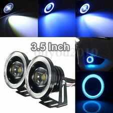 3.5'' COB LED Car Fog Driving Light Projector White Angel Eye Halo Ring DRL Bulb