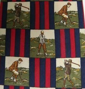 Green Red Blue Golf Silk Tie