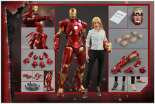 MARVEL HOT TOYS IRON MAN PEPPER POTTS & MARK IX 1:6 SCALE FIGURE HOTMMS311