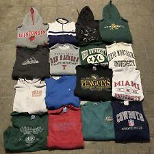 Vintage Wholesale 16 Sweatshirt Hoodie Bundle Lot Sports Athletic Adidas 90s 00s