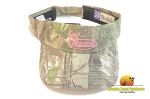 Buck Commander Womens AP Camo Visor, Pink Logo