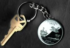 State of FLORIDA Quarter Keychain Key Chain