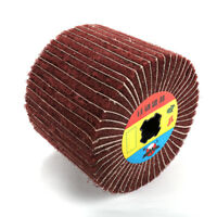 Non-woven Buffing Abrasive Flap Polishing Wire Drawing Wheel 40/80/120 Grit 1Pc