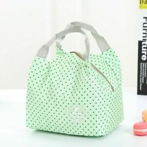 Portable Insulated Canvas Lunch Bag Thermal Food Picnic Cooler Box Tote Cute New
