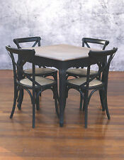 Setting 5 PIECE 90x90 Dining Table Cross Back Chairs French Provincial Package