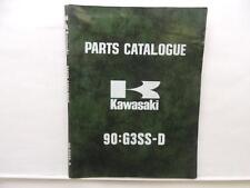 1973 Kawasaki Motorcycle Parts Catalog 90:G3Ss-D Book Shop Manual L7894