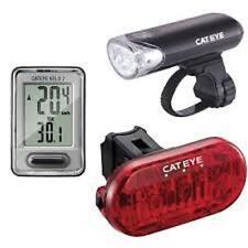 CATEYE HL-EL135/LD130/VELO 7 COMBO Front&Rear COMBO Tail Head Light Set LED Bike