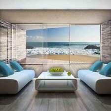 Tapete Fototapete Blick Terrasse Meer Strand Sand Wasser 3D 13N3603VEXXXL
