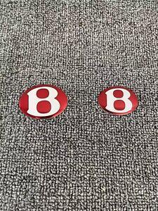 Aftermarket Bentley Continental Flying Spur,GT,GTC Front,Rear Badge Set Red Set