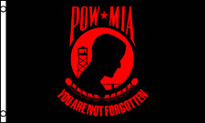 Pow/Mia Red 3'x5' Deluxe Polyester Flag Sold By A Vietnam Vet.