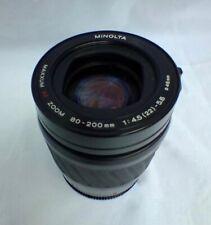 Minolta Maxxum AF 80-200/4.5-5.6 Zoom Lens for Minolta/Sony A