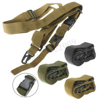 Adjustable Tactical 3 Point Sling For Bungee Rifle Gun Sling System Strap US