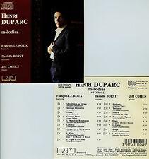HENRI DUPARC  mélodies  LE ROUX BORST