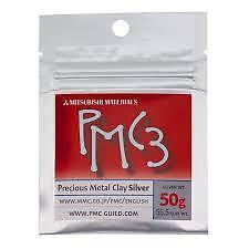 PMC3 50g Precious Metal Clay Mitsubishi 55.5g Silver Art Clay Pack PMC (wa225)
