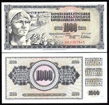 YUGOSLAVIA 1000 DINARA 1978 UNC BANKNOTE WORLD PAPER MONEY (P-92D)