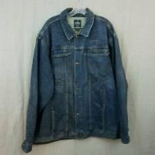 Starbury Denim Jacket Medium Wash Distressed 100% Cotton Mens XXL