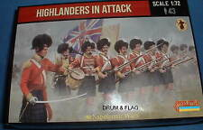 STRELETS Set 146 - HIGHLANDERS IN ATTACK - NAPOLEONIC WARS - 1/72 SCALE