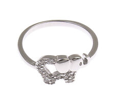 Thumb Elephant Ring for Women Men Silver Tone Plated Micro Pave Cubic Zirconia