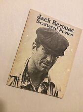JACK KEROUAC Scattered Poems 4th '73 City Lights Pocket Poet Series #28  KEROUAC