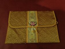"Traditional Korean Hand Made Silk Gold Wallet Pouch - 5"" x 7"""