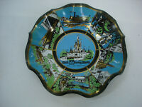 Walt Disney World Magic Kingdom Vintage Souvenir Glass Ashtray/ Candy Dish Bowl