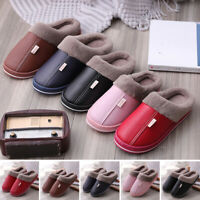 Womens Winter Slippers Indoor Outdoor Mules Plush Lined Warm Fuffly House Shoes