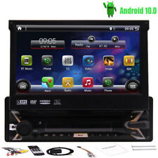 Android 10.0 DVD Stereo 7 inch Touchscreen 1 Din Car Radio GPS Navi Free Camera