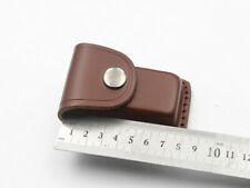 Cowhide Leather Sheath For Folding Knife Pouch Case up to 8cm Close Gift NEW