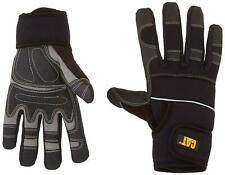 Medium Caterpillar Mens Adjustable Reinforced Synthetic Leather Wrk Gloves Black